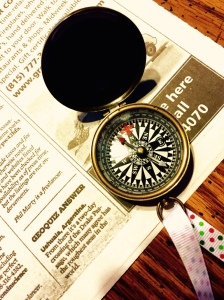 The compass wanted the selfie pic today. Side note: my parents gave this beautiful compass to me for Christmas last year. I laughed my head off when I opened the box.